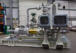 Amarinth's API 610 Sand Treatment Reject Pump Skid Package Manufacture and Test