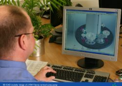 CAD engineer operatring 3D solidworks