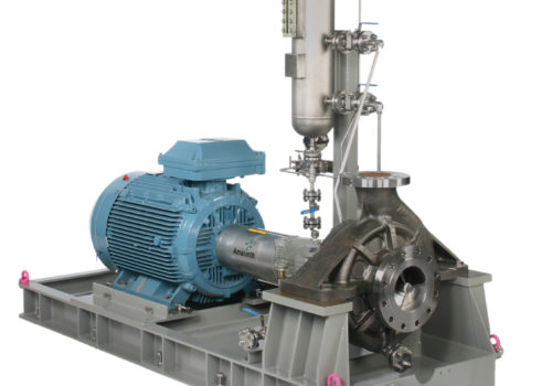 API 610 OH2 A Series petrochemical process pump complete with Protect System plan 53A seal support system