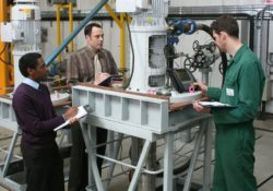 Witness testing in operation at the vertical pump testing facility