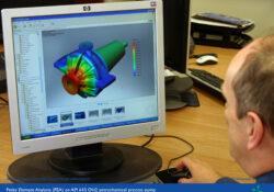 Engineer running Finite Element Analysis