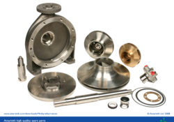 A selection of Amarinth pump spare parts
