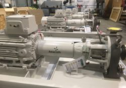 Amarinth designs sodium hypochlorite dosing pumps made from titanium for seawater treatment process on Umm Lulu platform