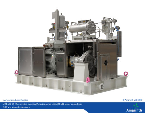 API 610 11th edition OH2 centreline mounted A series pump with API 682 water cooled plan 53B seal support system