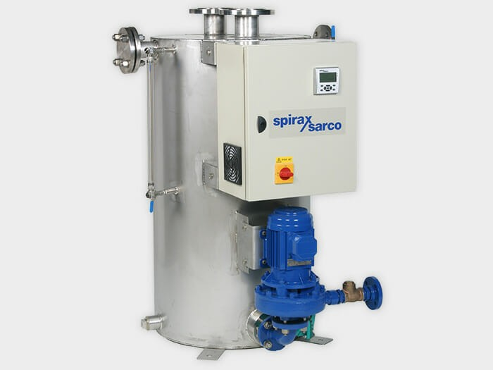Condensate Recovery Unit for light and heavy industrial applications